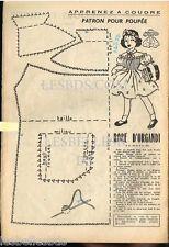 Doc/Clipping (Ref Rim 29) 08/1954 : PATRON POUPEE MIREILLE ROBE D'ORGANDI 1page
