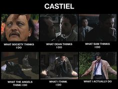Castiel | Supernatural fandom/what the Angels and Sam thinks cas does are just pics of dean…Sam and the Angels think cas does dean