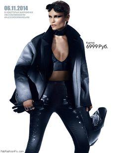 Natasha Poly for Alexander Wang X H&M Collection.