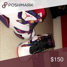 Jordan 7 Sweater's Really nice colorway, great condition, 9/10, very new. Air Jordan Shoes Sneakers