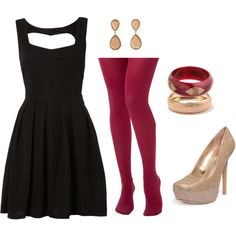 """Christmas party outfit"" by elfgirl931 on Polyvore"