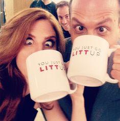 Sarah Rafferty and Gabriel Macht - SUITS - you just got Litt Up