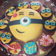 cupcakes de minions.