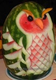 teresa birthday. owl and waermelon in one.