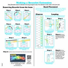 wonder loom instructions page 1 rainbow loom looms pinterest rh pinterest com Loom Band Ideas Loom Bands Patterns