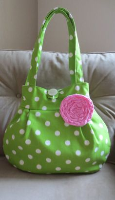 NEW Apple Dottie Lily Bag by ThePlumPinCushion on Etsy, $48.00