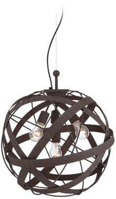 Orbital Weave Rust Metal 19 1/2-Inch-H Pendant Light -