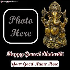 Wish happy ganesh chaturthi images with name and photo frame option, add my name with photo on beautiful bal ganesha wishes ganesh chaturthi best greeting card pictures, online make your name customized photo frame edit tools unique festival wishing quotes pic, ganpati bapa moriya message image personalized name writing sending cards, celebration lord ganesh chaturthi person name generator high quality wallpaper download free. Happy Ganesh Chaturthi Wishes, Happy Ganesh Chaturthi Images, Oil Painting Tips, Painting Art, Custom Photo Frames, Ganpati Festival, Name Generator, Watercolor Paintings Abstract, Name Writing