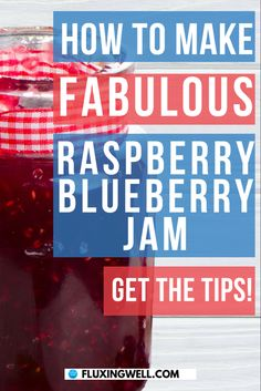 How to Make Fabulous Raspberry Blueberry Jam is one of the easiest jam recipes ever. Combine blueberries with raspberries and get an amazing homemade jam. Canning jam has never been simpler. Learn how to make jam the easy way by following these step by step instructions to use berries from the freezer or fresh berries. Look forward to making jam with this canned jam recipe. Berry jam lovers will be delighted with the results. Try this easy DIY jam recipe today! #jamgiftideas #berryrecipe Easy Salad Recipes, Jam Recipes, Easy Healthy Recipes, Easy Summer Salads, Easy Salads, Easy Meals, Easy Jam Recipe, Recipe Berry, Frozen Blueberries