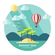 Summer landscape on Behance