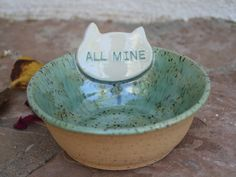 Cat Bowl handmade ceramic cat food dish modern pet dish cats food bowl pottery cat feeding bowl animal gifts for cats gift for cat lover by ManuelaMarinoCeramic on Etsy