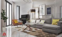 Modern Living Room. Ho Chi Minh City, Vietnam Designed by Gil Design. Gildesign.vn