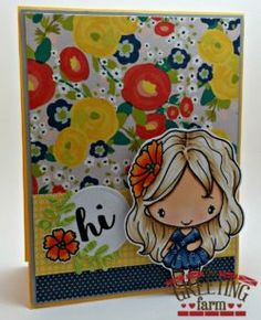 Stamp Feature: Hi Anya : The Greeting Farm – Clear Stamps, Rubber Stamps, Cardmaking USA