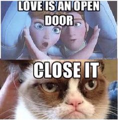 Love is an open door from frozen