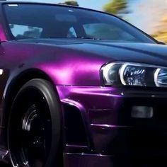Midnight purple R34 GTR skyline