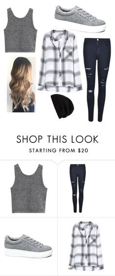 """""""for fall.😜"""" by meganueligger ❤ liked on Polyvore featuring Frame Denim, Steve Madden, Rails, Rick Owens, Fall, Hipster and grey"""