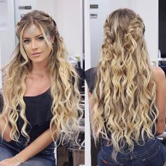 Wavy Side-Part Hairstyle - 60 Super Chic Hairstyles for Long Faces to Break Up the Length - The Trending Hairstyle Long Face Hairstyles, Chic Hairstyles, Formal Hairstyles, Braided Hairstyles, Wedding Hairstyles, Hairstyle Ideas, Concert Hairstyles, Curly Wedding Hair, Prom Hair