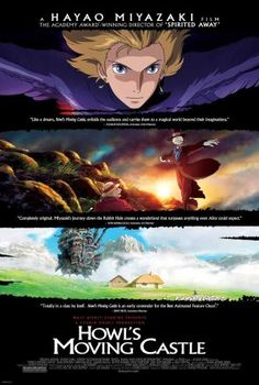 A great poster for Hayao Miyazaki's Academy Award-nominated anime movie Howl's Moving Castle! A classic from Studio Ghibli. Check out the rest of our amazing selection of Hayao Miyazaki posters! Need Poster Mounts. Hayao Miyazaki, Howl's Moving Castle Movie, Howls Moving Castle, Movies To Watch, Good Movies, Cartoon Online, Takuya Kimura, Film Academy, Studio Ghibli Movies