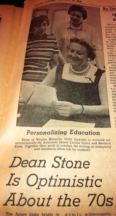 2day would b 99th birthday of Purdue's 1st Dean of Students Beverley Stone. Dean of Women 68-74/Dean of Students74-80