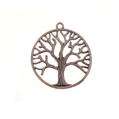 Copper Pewter 35mm Tree Of Life Pendant