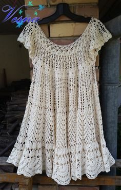 Fantastic crochet tunic with lots of patterns by ArtShopByVesna