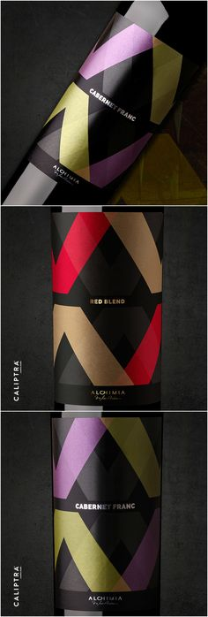Minimalist Label Design for Red Blend & Cabernet Franc from Winemakers in Argentina Design Agency: Caliptra Creative Studio Brand / Project Name: Red Blend & Cabernet Franc - Label Design Location: Argentina Category: #Wine #Drink World Brand & Packaging Design Society