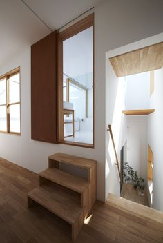Love the stairs and the 3rd floor bath. Image 3 of 34 from gallery of House in Futakoshinchi / Tato Architects. Photograph by Mitsutaka Kitamura