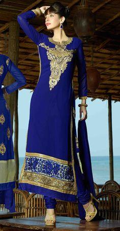 $34.32Blue Georgette Pakistani Style Suit 56691