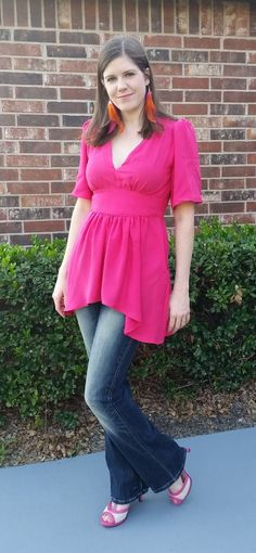 Simplicity 1801 Gathered Top in Rayon Challis