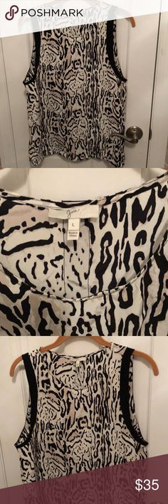 Joie Tank Large L Animal Print 100% Silk Never worn Joie Tops Camisoles