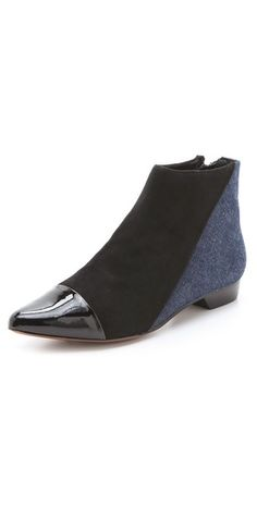 0b3f18992 10 Crosby Derek Lam Austin Pointed Flat Booties Black Indigo Your Products  Finder