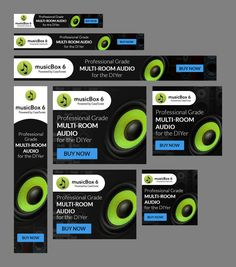Banner Ads to bring pro grade whole house music systems to DIYers for Professional Audio, Music System, Custom Banners, Web Banner, House Music, Logo Design, Bring It On, Ads, Logos