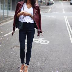 """Jeans by @leejeansaustralia ,white tee is @mate_the_label ,jacket @hironaeparis ,shoes by @mode_collective"""