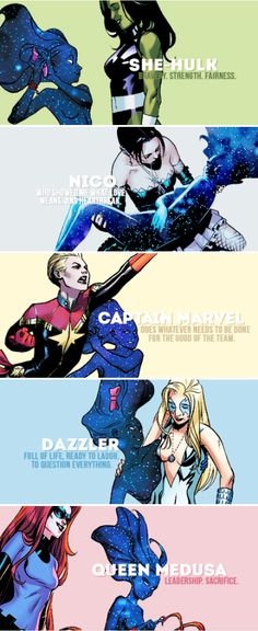 They were my friends. They were A-Force. #marvel