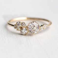 We just finished this piece and Im so excited to share! This new diamond ring is named Indie. The Indie ring features a stunning bright white antique diamond and a cluster of white diamonds on each side. The focal diamond has a Crown Jubilee cut which adds reflective rose-cut-like facets to a domed table on this antique old mine cut diamond. The new Indie ring is now at melaniecasey.com A colorful blue version will be released soon and were already keeping a waiting list! Email us at…