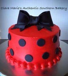 Polka Dot Cake. Buttercream with fondant details.