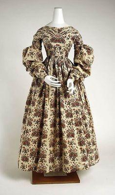 Day dress, 1838