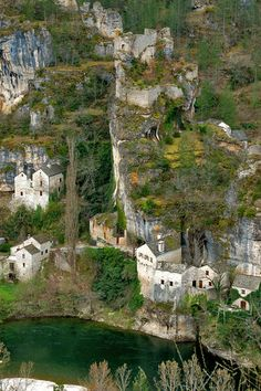 Castelbouc chateau and village through the eyes of ifege. Gorges du Tarn- France - Western Europe