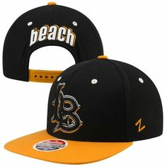 half off 43e19 983b7 Zephyr Long Beach State 49ers Refresh Snapback Hat - Black Gold