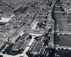 Palais du Louvre. Vue aérienne