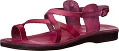 Jerusalem Sandals Women's The Good Shepherd Buckle - Womens Violet Sandal. The Good Shepherd Buckle delivers a style you can rock easily anytime. Handmade leather upper. Buckle closure. Leather lining. Molded leather footbed. Natural rubber outsole. Imported. Measurements: Heel Height: 1 in Weight: 7 oz Platform Height: 1⁄2 in Product measurements were taken using size 39 (US Women's 8), width M. Please note that measurements may vary by size.