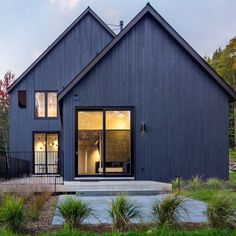 Photo by Leah 🏡 Design Black Barn, Metal Siding, Modern Farmhouse Exterior, Exterior Siding, Home Pictures, New Builds, Architecture Design, Outdoor Structures, House Styles
