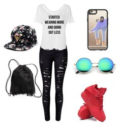 """""""You used to call me on my cellphone❤️"""" by sarahbrown-x ❤ liked on Polyvore featuring Casetify, WithChic, adidas, H&M, DRAKE, views and 60secondstyle"""