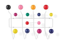 Originally designed in 1953 by modern design duo Charles and Ray Eames, the Eames Hang-It-All is a design classic. The steel frame is powder-coated with painted solid maple balls. $199.00. hivemodern.com