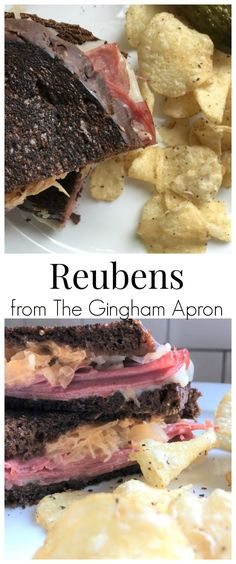 Reuben Sandwiches- easy to make and SO delicious! #sandwich #lunch