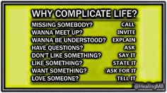 "Healing Mind Body na Twitteri: ""Why Complicate Life .. #Mindfulness #MindBody #Wellness https://t.co/fVAFhYc6Xk"""