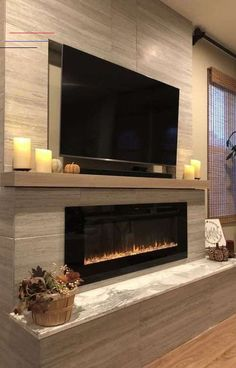 Home Fireplace, Modern Fireplace, Living Room With Fireplace, Fireplace Ideas, Scandinavian Fireplace, Living Room Modern, Living Room Tv, Living Room Designs, Small Living