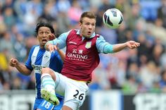 ~ Andreas Weimann of Aston Villa against Wigan Athletic on the final day of the Barclays Premier League Season ~ Wigan Athletic, Barclay Premier League, Aston Villa, Soccer Ball, Barclays Premier, Football, Seasons, Running, American Football