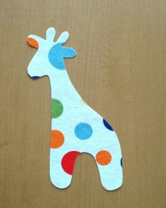 Giraffe Applique Template