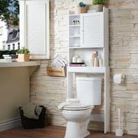Buy Bathroom Cabinets & Storage Online at Overstock | Our Best Bathroom Furniture Deals Bathroom Floor Cabinets, Bathroom Shelves, Bathroom Furniture, Bathroom Organization, Toilet Shelves, Condo Bathroom, Bath Cabinets, Bathroom Interior, Linen Cabinet